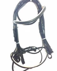 Beige padded bridle