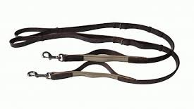 Leather elastic side reins