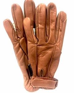 HKM Brown Leather Gloves