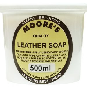 moores leather soap 500ml
