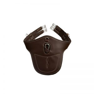 Kentucky-Horsewear-Leather-Stud-Girth-Brown